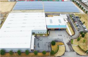 ダイトテクス工場内 メガソーラー施設